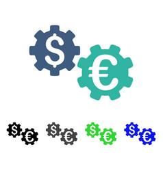 International financial mechanics flat icon vector