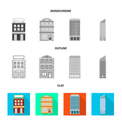 Isolated object of municipal and center logo set vector