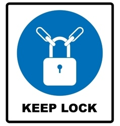 Keep locked sign vector image