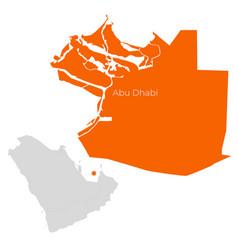 Map abu dhabi uae vector