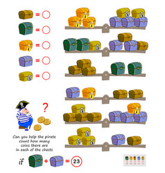 Mathematical logic puzzle game for children can vector