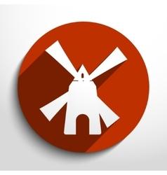 Mill web icon vector