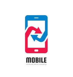 Mobile phone application logo template vector