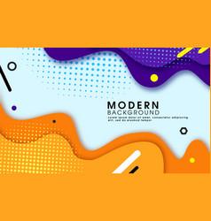 Modern wave shape background vector