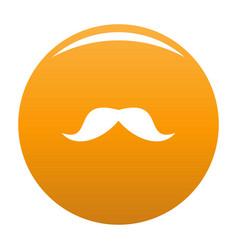 Norway mustache icon orange vector
