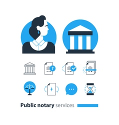 Notary 5 vector image