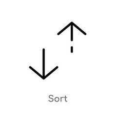 Outline sort icon isolated black simple line vector