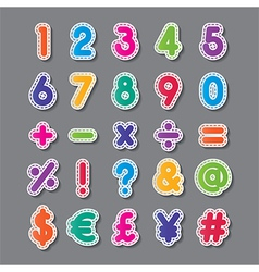 paper numbers and symbols vector image