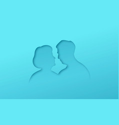 papercut old man and woman couple in love vector image