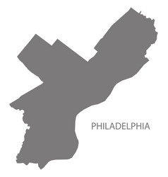 Philadelphia city map grey silhouette shape vector