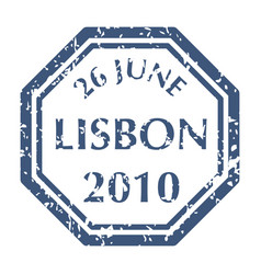 postal stamp from lisbon vector image