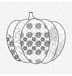 Pumkin adult coloring book page vector image