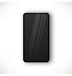 realistic smartphone top view vector image