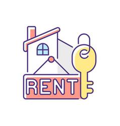 Rental rgb color icon vector