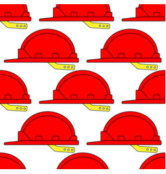 safety hardhat pattern vector image