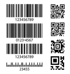 set abstract barcode bar code templates vector image