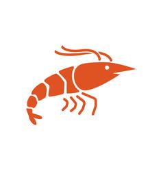 Shrimp icon design template vector
