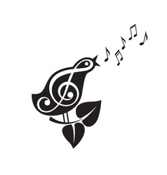 singing bird icon vector image