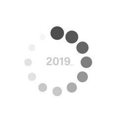 Soom new year 2019 update on a white background vector