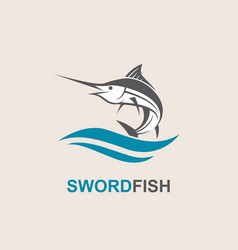 swordfish for fishing design vector image