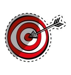 Target dartboard game vector image