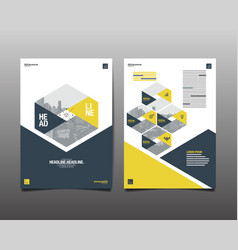 Template design layout brochure design vector