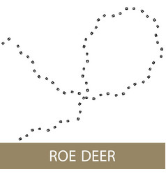 Traks of a roe deer animal vector