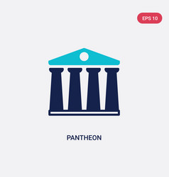Two color pantheon icon from history concept vector