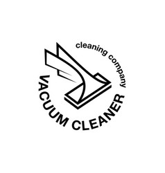 vacuum cleaner abstract emblem vector image