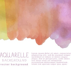 watercolor background with text and signa vector image