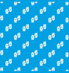winter gloves pattern seamless blue vector image