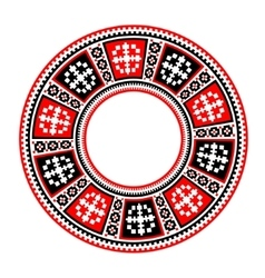 Circular pattern in traditional style vector image vector image