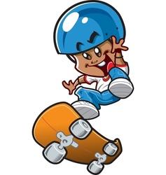 Ethnic Skateboard Boy vector image