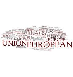 European word cloud concept vector