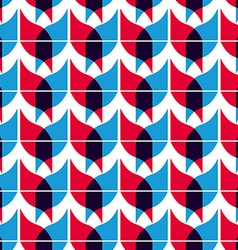 Geometric mosaic seamless pattern background vector image vector image