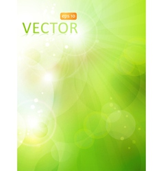 green bokeh background vector image vector image