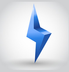 sparkling lightning bolt vector image vector image