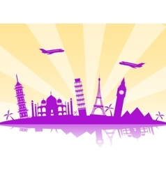 Travel background vector image vector image