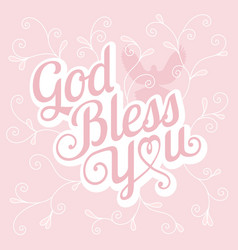 typography god bless you vector image vector image