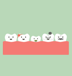 funny teeth family vector image
