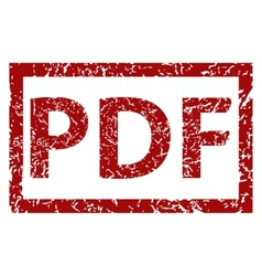 PDF grunge rubber stamp vector image vector image