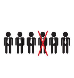 Simple sketchy office workers in ties are standing vector