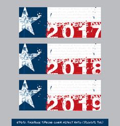 texan flag independence day timeline cover - vector image vector image