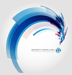 abstract background element in blue and pink vector image