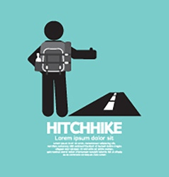 Hitchhike Tourist Symbol Graphic vector image vector image