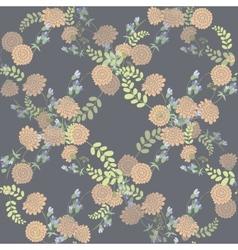 Seamless vintage pink flower pattern vector image vector image