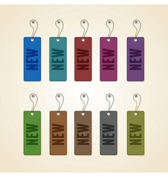 Set of colorful new tags vector image vector image