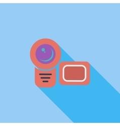 Video camera single flat icon vector image vector image