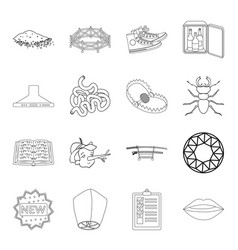 weapons hunting insect and other web icon in vector image vector image
