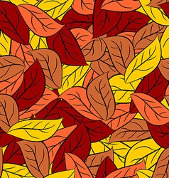 Autumn texture of leaves of trees seamless pattern vector image